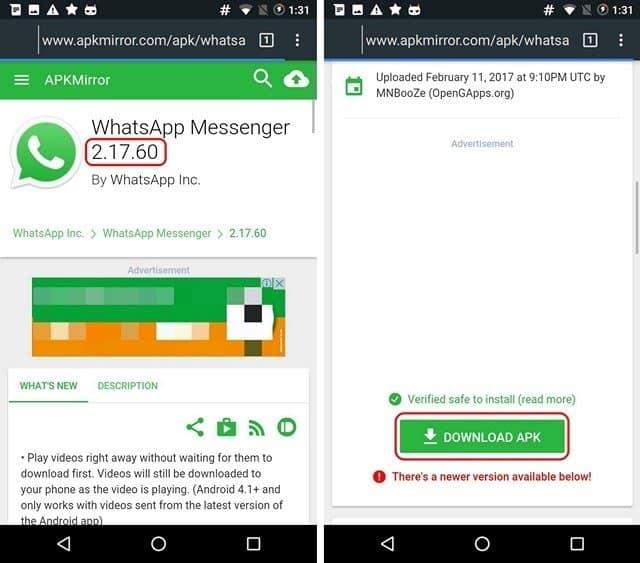 Old Whatsapp Status