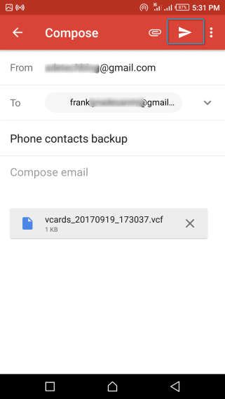 Backup Contacts To Google On Iphone
