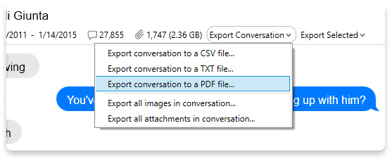 Conversation to a PDF file