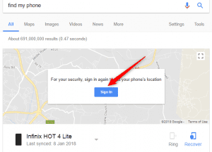Find a lost Android Phone