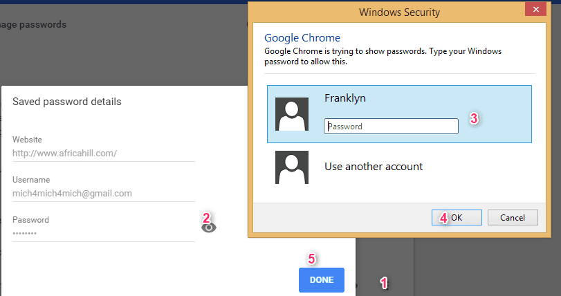 See password in Chrome
