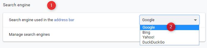 Set Google as Chrome search engien