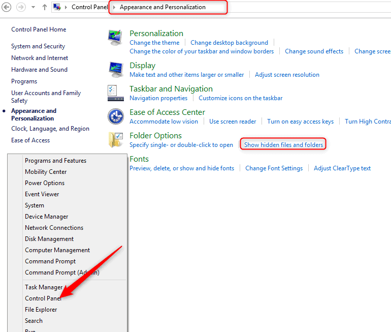 windows 10 how to find hidden files