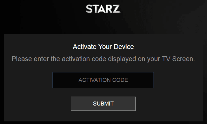 How to Activate Starz on Roku, Xbox and Smart TV