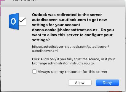 Autodiscover-s.outlook.com Redirect