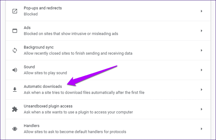 Chrome blocked downloads