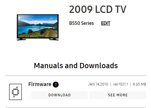 Samsung TV Firmware Download