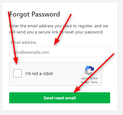 Nextdoor.com/join password reset