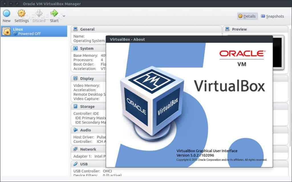VirtualBox Oracle VM