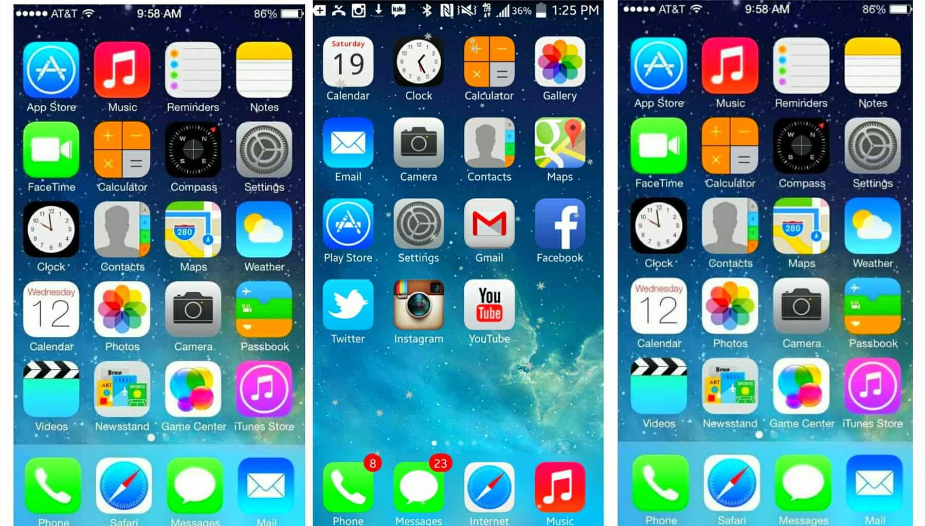 iPhone Launcher to Make Android Looks like iPhone X