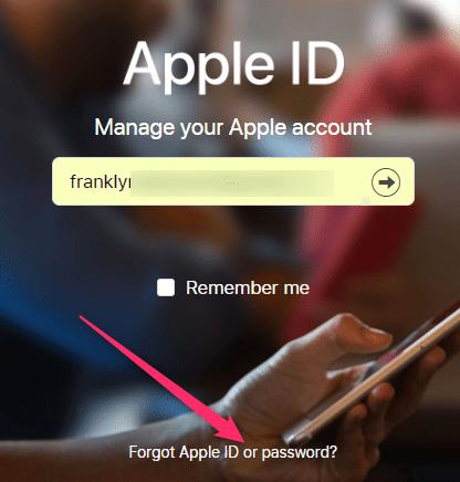I Forgot Apple ID