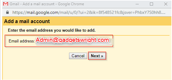 Google custom email