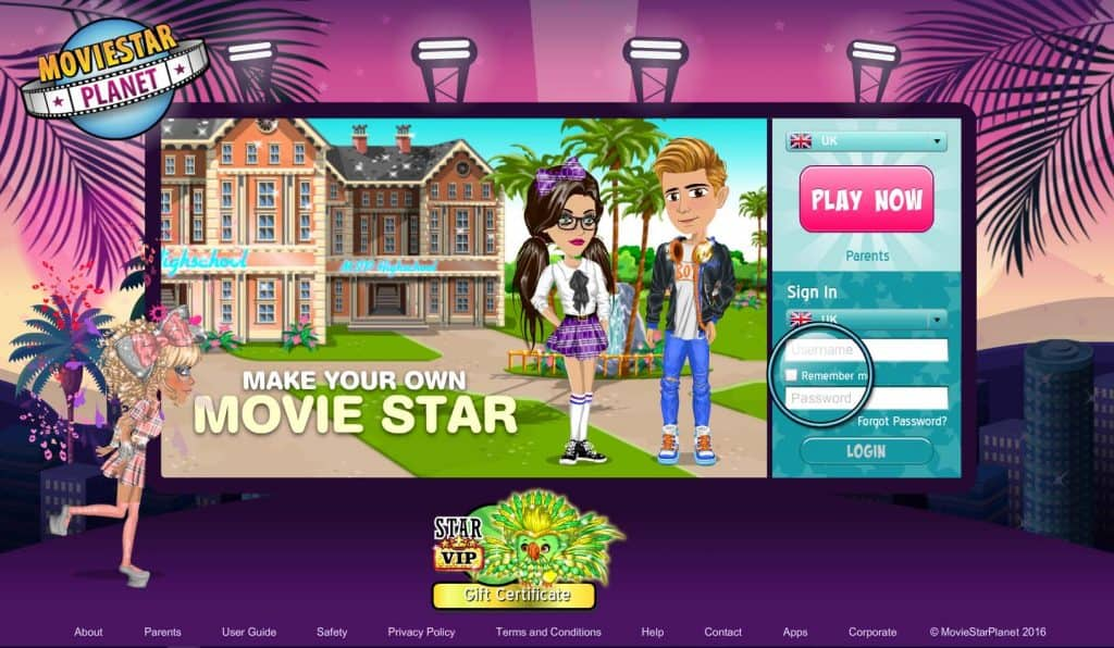 MovieStarPlanet for girls