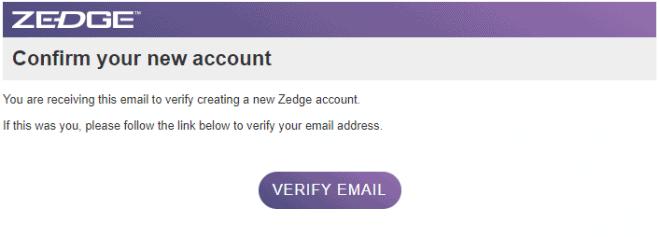 Verify Zedge account