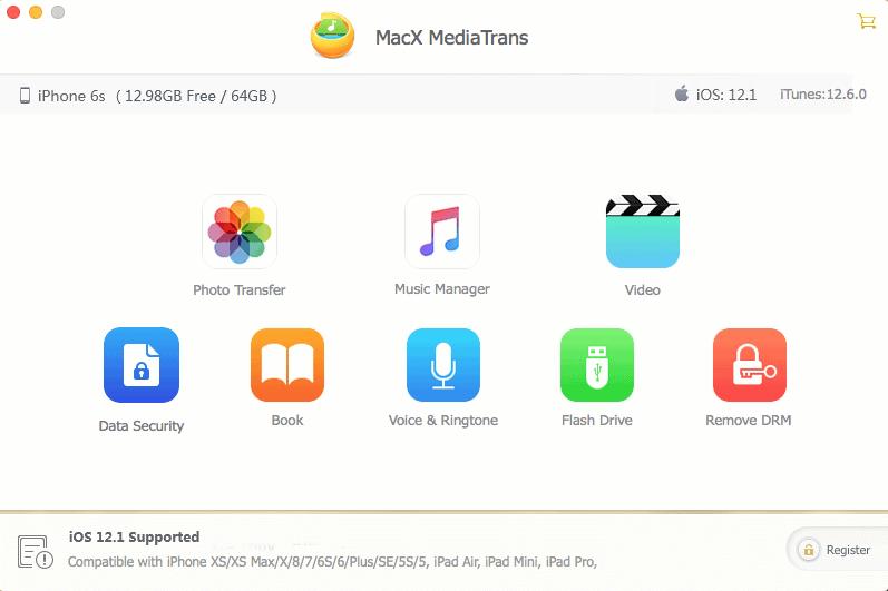 iTunes alternative MacX MediaTrans