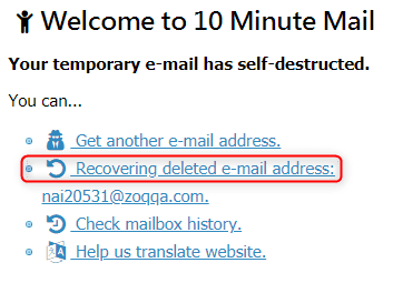 10Minutemail: Quickly & Temporary Fake Mail Generator
