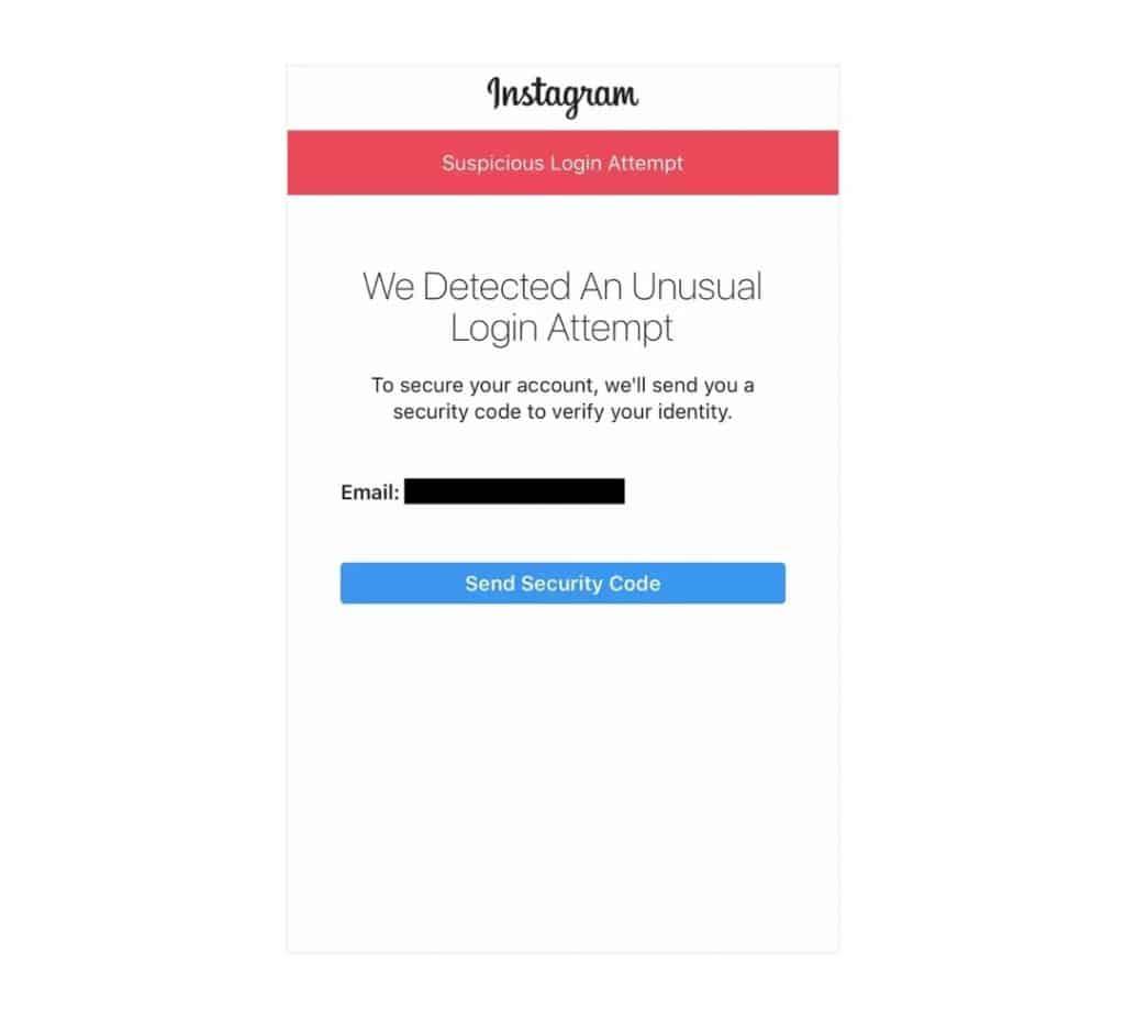 Can't login Instagram account