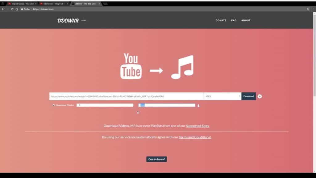 YouTube Download MP3