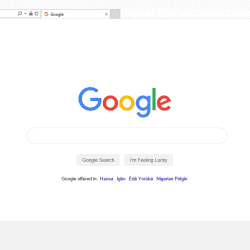 Set Google as an Internet Explorer homepage