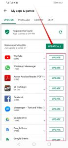 Update all Android apps