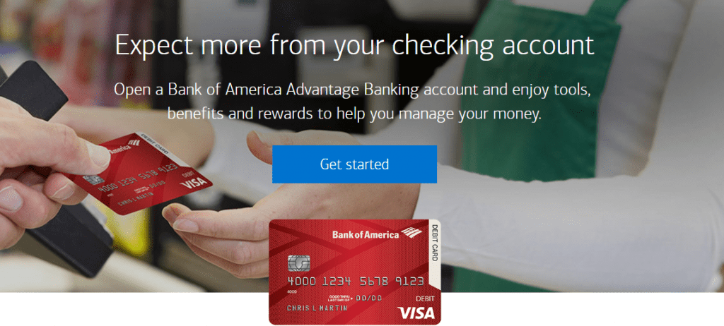 Open Bank of America online account