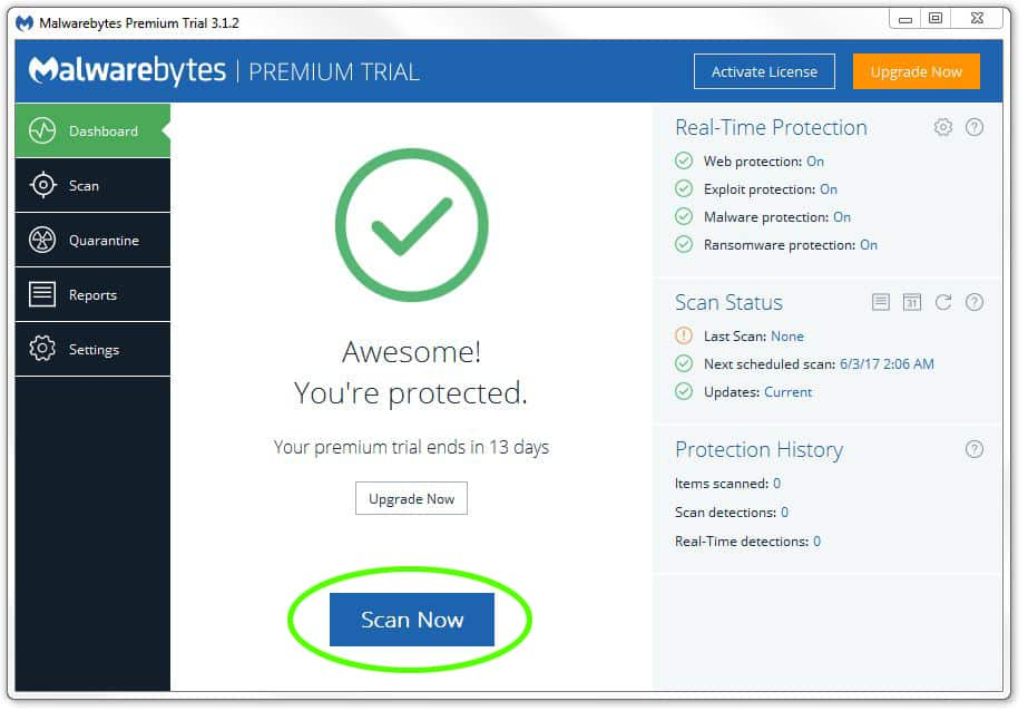 Malwarebytes database