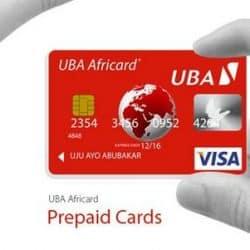 UBA Africard prepaid cards