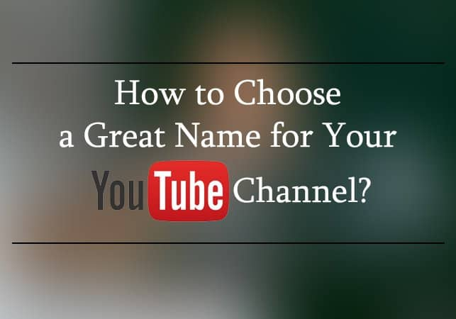 YouTube Channel username