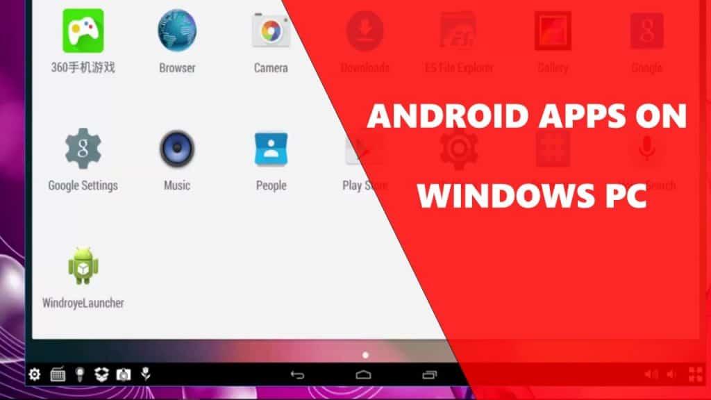 Run Windows App on Android