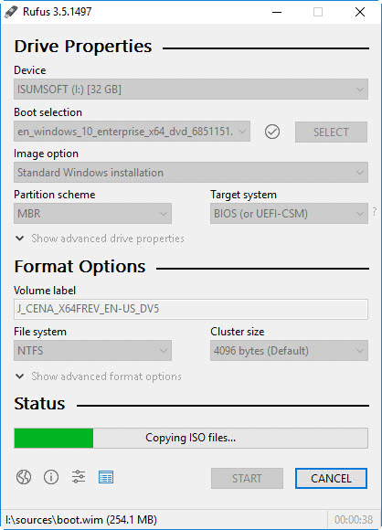 Windows 10 ISO to USB