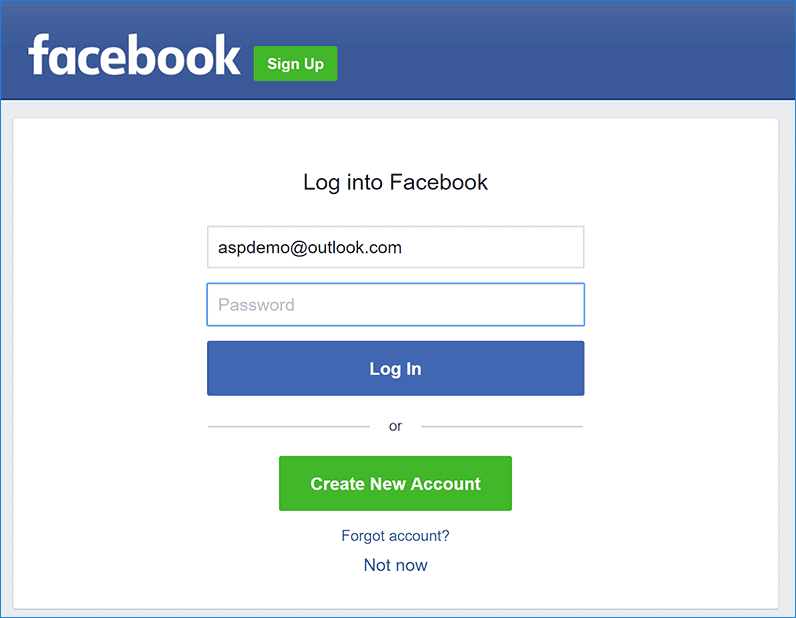 Secure Facebook Login