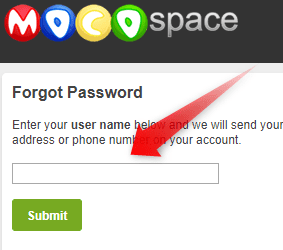 Recover Mocospace login