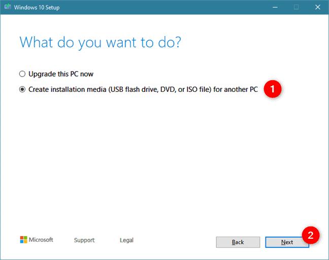 Create Bootable USB/DVD installation