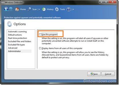 Windows 7 Windows Defender