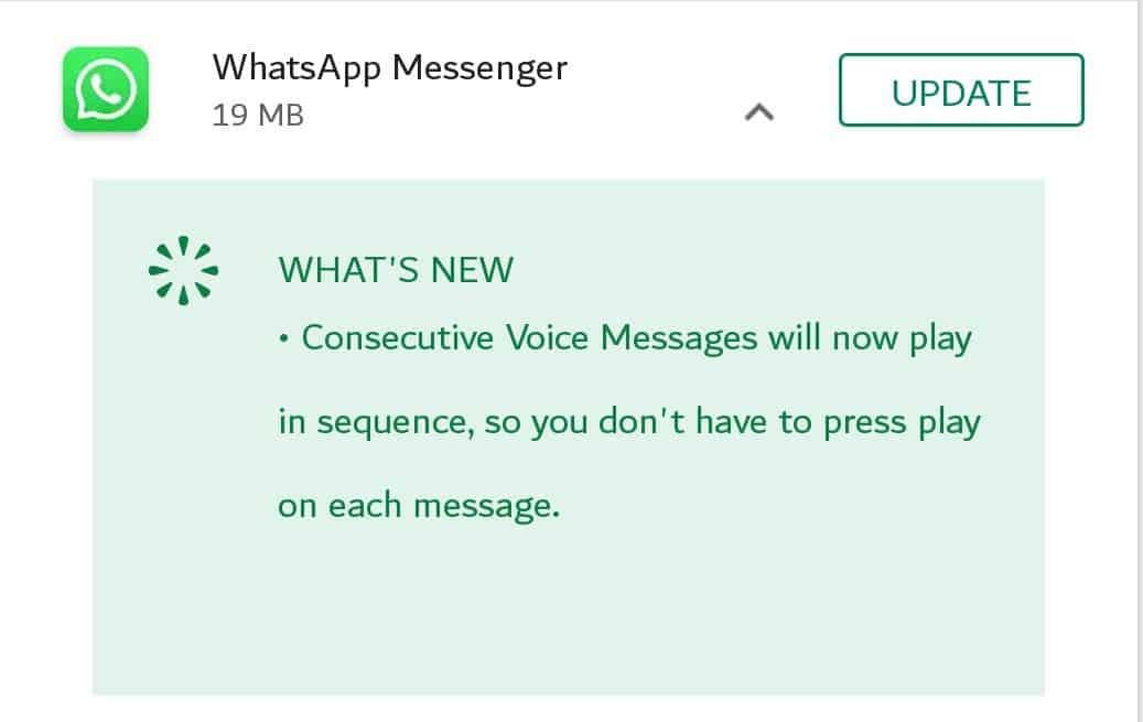 Install WhatsApp new version