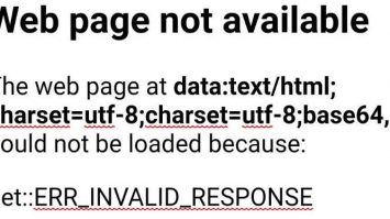 Web page not available Blackberry hub +