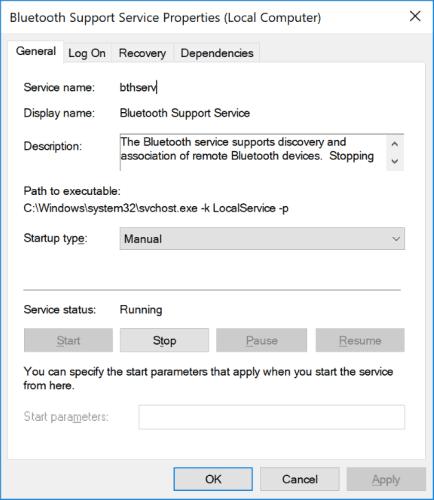 Enable Windows 10 Bluetooth