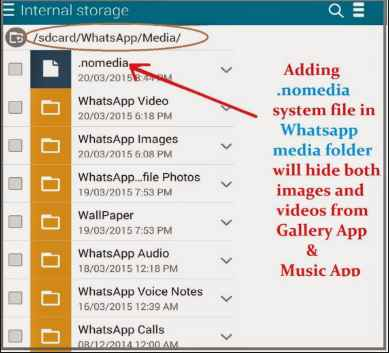 How to create .nomedia file