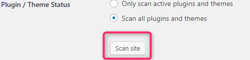 Scan site for PHP compatibility