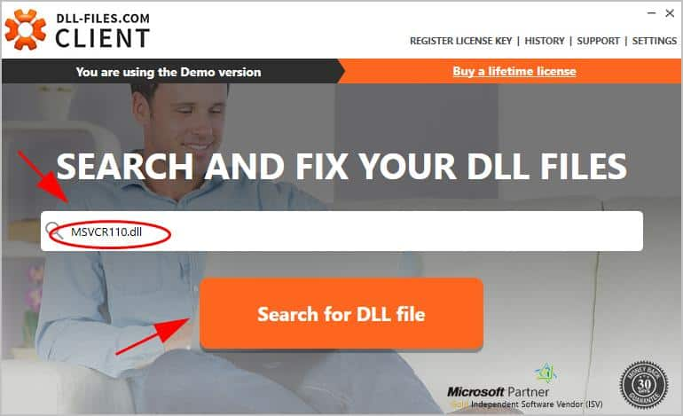Search for .DLL file