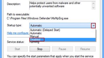 Disable Windows 7 Defender