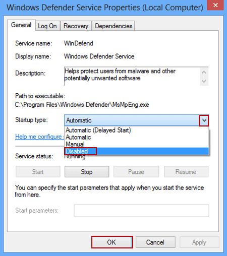 Disable Windows 7 Defender