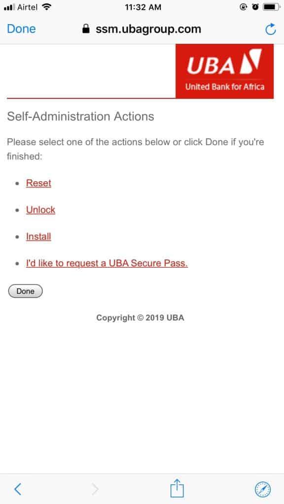 Secure UBA Pass