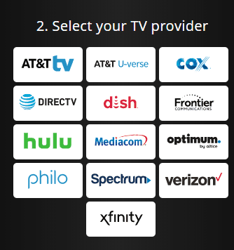 Select Cable provider