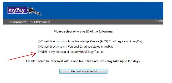 Send Temporary password