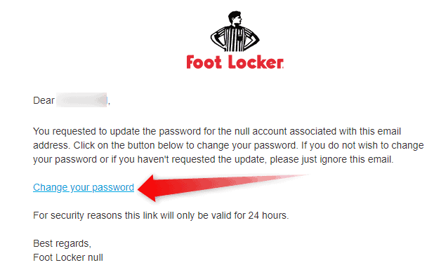 Change Footlocker Homeview password
