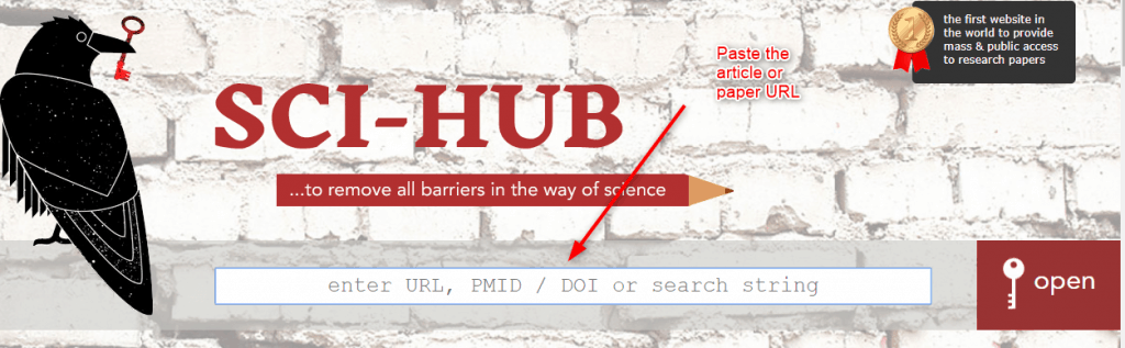 Paste article URL on Sci Hub