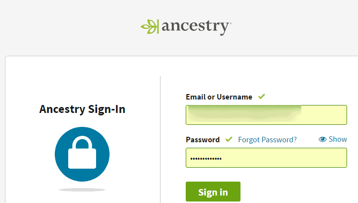 Login Ancestry DNA