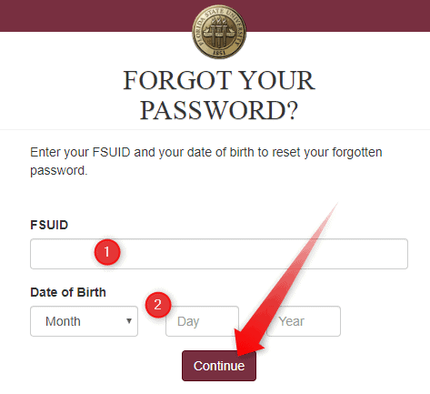 My FSU Password Reset