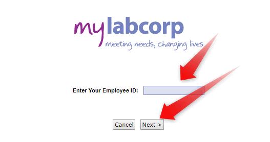 Reset MyLabCorp password